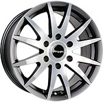 TN1F 6 5JX16 ET60 5X118 GUNMETAL MATT POLISHED